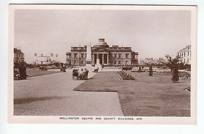 Wellington Square & County Buildings Ayr Real Photograph Early 1900's Holmes