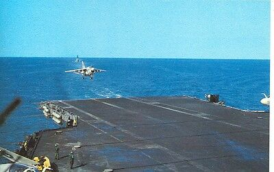 Uss Midway A7 Corsair Landing/ Military Airplane(Mj1399*)