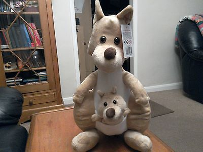 Cuddly Kangaroo soft toy, label attached