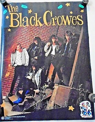 "Black Crowes - Orig. vintage promo poster 1990 / Exc.+ New cond. 18 x 24"" USA"