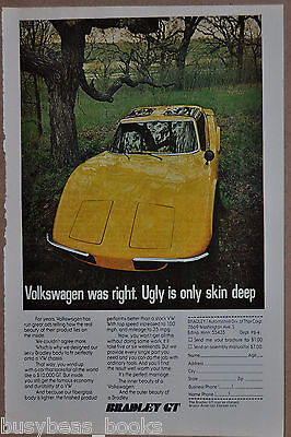 1976 BRADLEY GT advertisement, kit car, Volkswagen chassis sports car kit