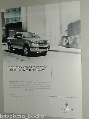 2006 LINCOLN MARK LT Pickup advertisement, Lincoln Mark LT SUV/pickup truck
