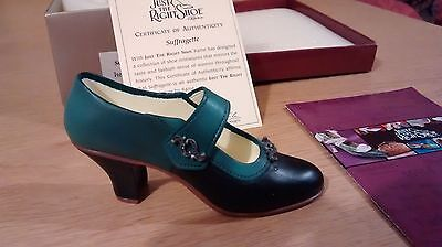 """Collectible Miniature Shoe """"Just the Right Shoe"""" by Raine - Suffragette (Boxed)"""