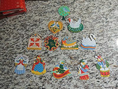 Avon 12 Days of Christmas Ornaments in Boxes
