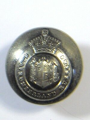 Northumberland Hussars original Victorian Large Silvered Button.