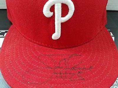 Jim Thome SIGNED AUTOGRAPH FITTED HAT JSA COA Philadelphia Phillies Indians