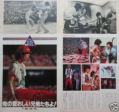 Rolling Stones Mick Jagger Keith Richards 1979 Clipping Japan Magazine Jm 1A 7P