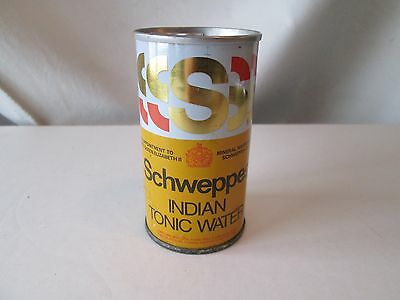 Schweppes Indian Tonic Water Travel Pack Size for Ships Rail n Air Pull Tab Old