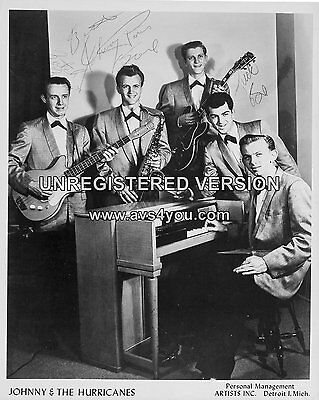 "Johnny and the Hurricanes 10"" x 8"" Photograph no 3"