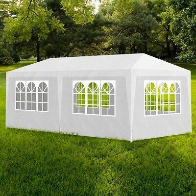 Gazebo 3x6m White Party Tent Marquee Folding Up Canopy Outdoor Wedding Event
