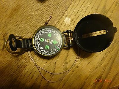 Vintage LENSTATIC Engineer Field Compass