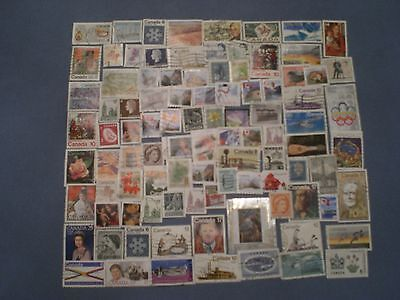Pile of  Used Canadian Stamps