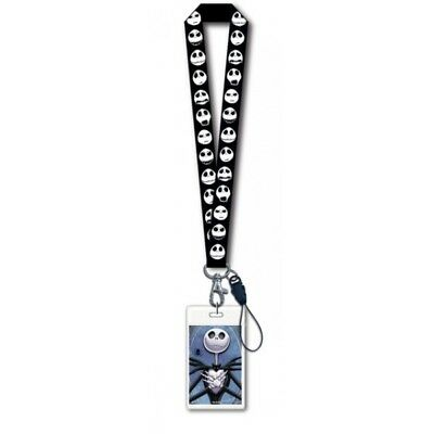"""The Nightmare Before Christmas Jack Faces 18"""" Lanyard w/ Card Holder NEW UNUSED"""