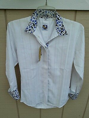 NWT ROYAL HIGHNESS Size 32 Long Sleeve White Textured Snap Collar Show Shirt