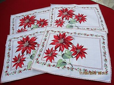 Christmas, Four-Piece Placemat Set, Vintage, 16.25 x 13 inches,
