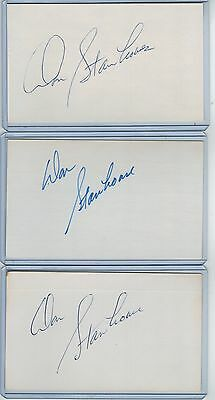 (3) Don Stanhouse Index Card Signed 1972-82 Expos Orioles Psa/dna Certified
