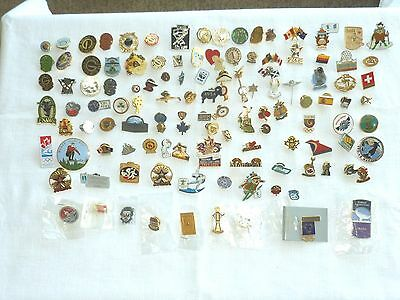 120 Mixed Pin Backs Mostly Canadian-Olympics, Expo Bowling ++