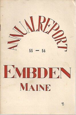 1956 ANNUAL REPORT of the Town of Embden, Maine