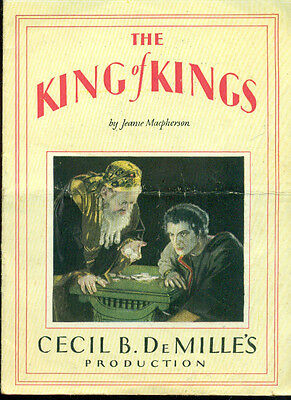 Cecil B. DeMille's THE KING OF KINGS vintage 1927 fold-open advertising hand-out