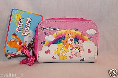 New With Tag Care Bears Pink Coin And Id Wallet