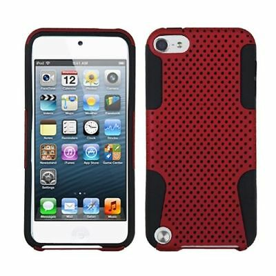 For Apple iPod Touch 5th Gen/6th Gen Red Mesh Astronoot Hard Hybrid Case Cover