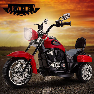 ROVO KIDS Electric Ride-On Motorbike Motorcycle Harley Style Battery Toy Chopper