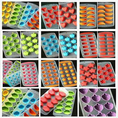 Silicone Ice Cube Jelly Chocolate Fruit Cake DIY Mould Mold Tray Pudding HOT