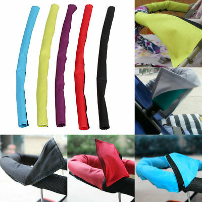 Baby Pram Pushchair Stroller Fabric Handlebar Handle Bar Bumper Fastener Cover