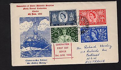 Great Britan 1953 Coronation FDC to Australia see scans x2