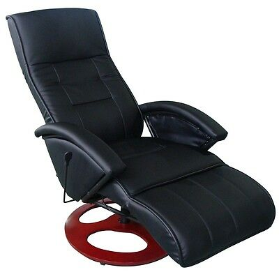 New Leather Massage Recliner Chair Electric Remote Control Ottoman Black Office