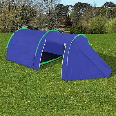 Outdoor 4 Person Camping Tent Pop Up Blue Hiking Fishing Shelter Lightweight