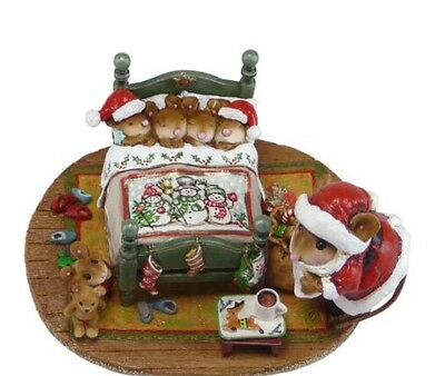Wee Forest Folk Retired Limited Edition Surprised Santa