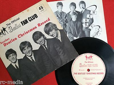 THE BEATLES-Another Beatles Christmas Record- Rare 1964 Flexi with Insert
