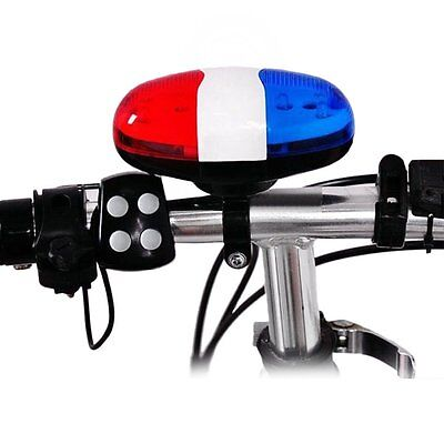 KIds Bike Police Sound LED Light Siren Sounds Trumpet Cycling Electric Horn