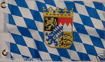 NEW 12x18 BAVARIA GERMAN GERMANY BOAT FLAG WITH BRASS GROMMETS