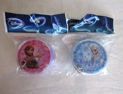 New! Disney Princess FROZEN Anna & Elsa Round Zipper Chain Coin Purse Set