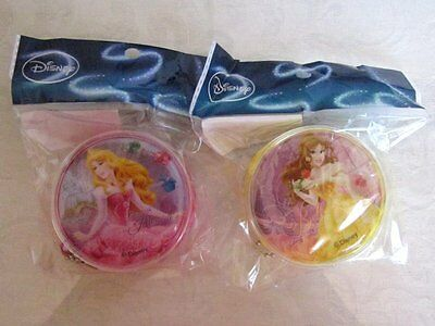 NEW! Disney Princess AURORA and BELLE Round Coin Purse Set