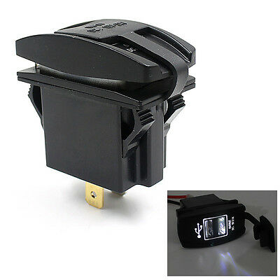 12V 24V Car Auto Boat Accessory Dual USB Charger Power Adapter LED Outlet 2016