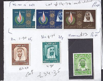 Abu Dhabi stamps mint and used a collection cat. £380+ stamps removed from pages
