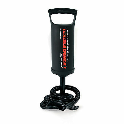 Intex High Output Hand Pump Double Quick I #68612 Air Beds Swimming Pools Boats