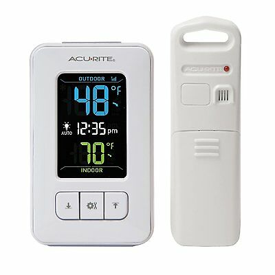 AcuRite Color Digital Thermometer with Indoor/Outdoor Temperature, 02028