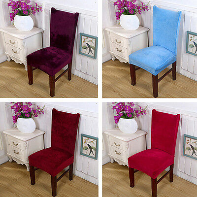 Winter Velvet Chair Cover 7 Colors Living Room House Decor Warm Comfortable ZXX