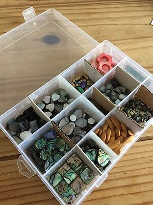 Mixed Box Of Jewellery Making Gemstones From Jewellery Maker In Storage Box