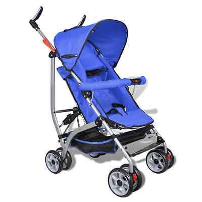 S# Blue Baby Stroller Pram Kid Toddler Child Jogger Bassinet Wheel Seat 5 Positi