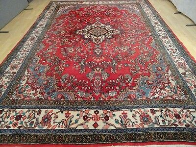 """Large PERSIAN CARPET RUG HAND MADE Vintage antique Traditional 12ft 3"""" x 8ft 8"""""""