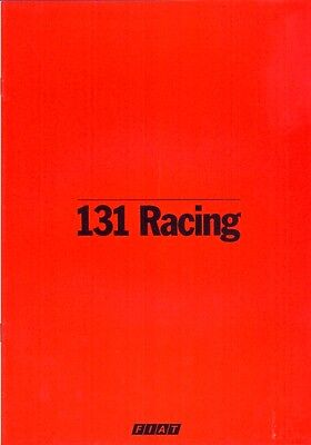 Fiat 131 Racing French market original colour sales brochure 1979 A4 size