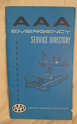 Vintage 1958 Spring Edition AAA Emergency Service Directory