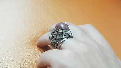 luxury vintage cupronickel filigree ring Russia 1930
