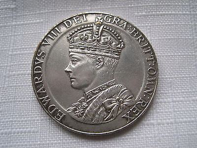 1937 Sterling Silver Edward V111 Commemorative Coin ( Crown Size )