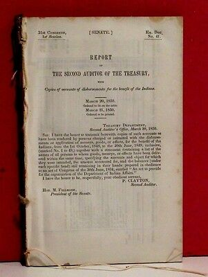 Senate Report - Disbursements for the Benefit of the Indians - 1848/1849